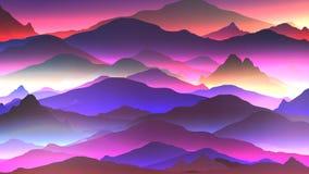 De abstracte Achtergrond van de Neonberg - Vectorillustratie vector illustratie