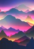 De abstracte Achtergrond van de Neonberg - Vectorillustratie royalty-vrije illustratie