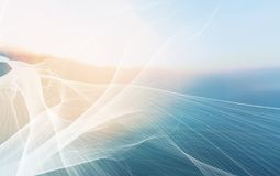 De Abstracte Achtergrond van de netwerktechnologie royalty-vrije stock afbeeldingen