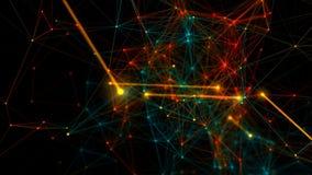 De abstracte achtergrond van de netwerkverbinding Het naadloze Van een lus voorzien stock illustratie