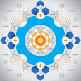 De abstracte achtergrond van nieuwe technologieelementen Vector illustratie stock illustratie