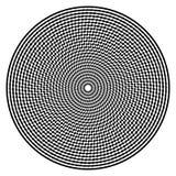 De abstracte achtergrond van de optische illusiekunst Zwart-wit zwart-wit geometrisch hypnotic cirkelpatroon Royalty-vrije Stock Afbeelding