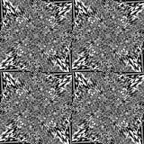 De abstracte achtergrond van de optische illusiekunst Zwart-wit zwart-wit geometrisch hypnotic naadloos patroon Royalty-vrije Stock Fotografie