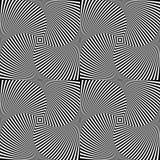 De abstracte achtergrond van de optische illusiekunst Zwart-wit zwart-wit geometrisch hypnotic naadloos patroon stock illustratie