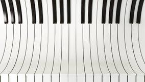 De abstracte achtergrond van pianosleutels 3D Illustratie Royalty-vrije Stock Afbeeldingen