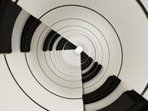 De abstracte achtergrond van pianosleutels 3D Illustratie Stock Foto