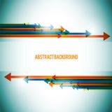 De abstracte achtergrond van pijlen Vector Illustratie