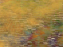 De abstracte achtergrond van plasma oranje groenachtig blauwe rode tegels Stock Foto