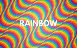 De abstracte achtergrond van de regenboog Kleurrijke textuur met heldere golven Gekleurde gebogen lijnen In achtergrond voor bann stock foto