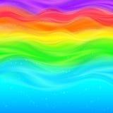 De abstracte achtergrond van regenboog vectorgolven Stock Fotografie