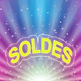 De abstracte achtergrond van Soldes Stock Foto's