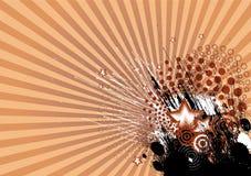 De abstracte achtergrond van stralen Stock Fotografie