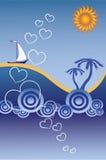 De abstracte achtergrond van Sunbeach Stock Foto's