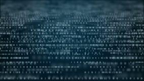 De abstracte achtergrond van de technologie binaire code Random numbers digitale binaire gegevens stock illustratie
