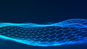 De abstracte Achtergrond van de Technologie Grote gegevensvisualisatie Futuristische hexagon achtergrond rendering royalty-vrije illustratie