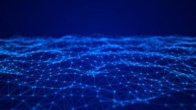 De abstracte Achtergrond van de Technologie De structuur van de netwerkverbinding Grote gegevens digitale achtergrond het 3d teru stock illustratie