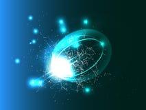 De abstracte Achtergrond van de Technologie Vector futuristische illustratie Stock Foto
