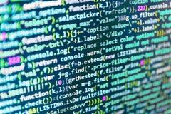 De abstracte Achtergrond van de Technologie Websiteontwikkelaar de bron van PC Programmeur die zijn code inzake de Moderne toepas stock foto's