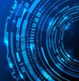 De abstracte achtergrond van technologiecirkels Stock Foto's