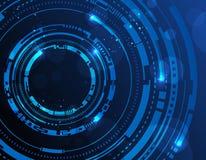 De abstracte achtergrond van technologiecirkels Stock Fotografie