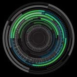 De abstracte achtergrond van technologiecirkels stock illustratie