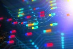 De abstracte achtergrond van de technologieknoop Stock Afbeeldingen