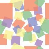 De abstracte achtergrond van vierkanten naadloze kinderen Stock Foto's