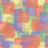 De abstracte achtergrond van vierkanten naadloze kinderen Stock Afbeelding