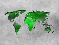 De abstracte achtergrond van de Wereldkaart met textuur Royalty-vrije Stock Afbeelding