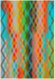 De abstracte achtergrond van zigzaglijnen Stock Afbeeldingen