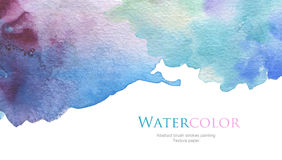 De abstracte acryl en geschilderde achtergrond van de waterverfborstel slagen Stock Fotografie