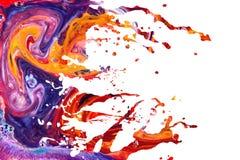 De abstracte acrylachtergrond van de verfplons Royalty-vrije Stock Afbeelding