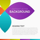 De abstracte affiche kleuren moderne bloemen vector van de achtergrondontwerplay-out Stock Fotografie