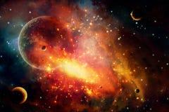 De abstracte Artistieke Achtergrond van de Planeetexplosie royalty-vrije illustratie