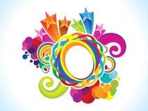 De abstracte artistieke creatieve regenboogcirkel explodeert Royalty-vrije Stock Afbeeldingen