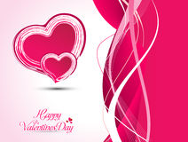 De abstracte artistieke vectorillustratie van het valentijnskaarthart Stock Foto
