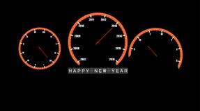 De abstracte auto klokt Gelukkige nieuwe jaar 2013 vector Stock Afbeelding