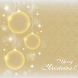 De abstracte ballen van Kerstmis Stock Afbeeldingen