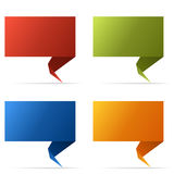 De abstracte banners van de kleurenvlag Stock Foto