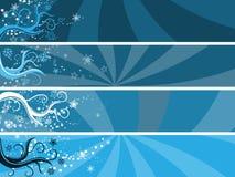 De abstracte banners van het de winterthema Stock Fotografie