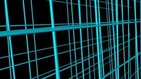 De abstracte bedrijfscomputertechnologieachtergrond met 3d net, geeft achtergrond, geproduceerde terug computer royalty-vrije illustratie
