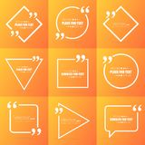 De abstracte bel van de het citaattekst van de concepten vector lege toespraak vierkante Voor Web en mobiele app op achtergrond Royalty-vrije Stock Fotografie