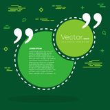 De abstracte bel van de het citaattekst van de concepten vector lege toespraak vierkante Voor Web en mobiele app op achtergrond Royalty-vrije Stock Foto