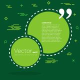De abstracte bel van de het citaattekst van de concepten vector lege toespraak vierkante Voor Web en mobiele app op achtergrond Stock Foto