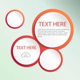 De abstracte bel van het Webontwerp, vector Stock Foto's