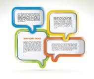 De abstracte bellen van het Webontwerp vector illustratie