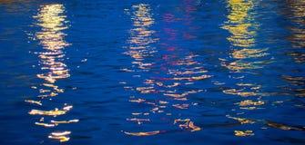 De abstracte Bezinningen van het Water Stock Afbeeldingen