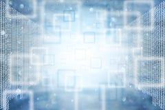 De abstracte binaire achtergrond van aantallengegevens Stock Foto