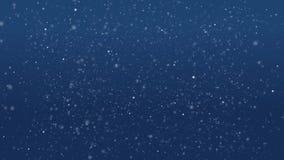 De abstracte blauwe achtergrond met heldere bokeh, cirkels, schittert Lijnanimatie Plankton in het overzees stock videobeelden