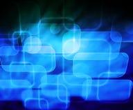 De abstracte Blauwe Achtergrond van de Computer Stock Foto
